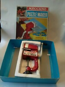 , Meccano Vintage Puzzle Maker Make Your Own Jigsaws Excellent Condition Hard To