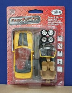 Testors 9690 Easy Builder 1994 Ford Mustang GT Convertible Diecast Kit Yellow A