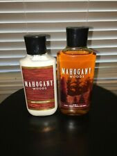 Bath and Body Works Mahogany Woods Lotion & 2 in 1 Body Hair Wash Men Set Lot