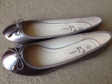 Lovely Avon Silver Ballerina Pumps Sole Sensations Size 7 (40) BRAND NEW IN PACK