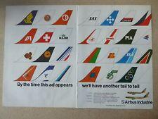 11/1979 PUB AIRBUS A300 A310 AIRLINE TAIL PIA SAS KLM LAKER SABENA TEA THAI AD