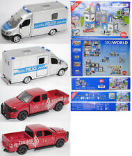 SIKU WORLD 5510 Polizeistation mit Mercedes-Benz Sprinter + Dodge RAM 150