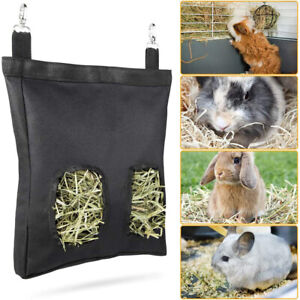 Rabbit Guinea Pig Feeder Bag Hay Bag Hanging Feeder Sack for Chinchilla Bunny*