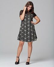 LOVEDROBE Embroidered Swing dress blk/gold uk size 32 (ref rail 102) RRP £75