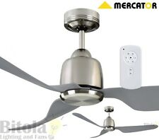 """NEW MERCATOR MANLY 35w DC CEILING FAN WITH REMOTE 3 BLADE 52"""" BRUSHED CHROME"""
