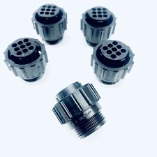 AMP TE CONNECTIVITY 206708-1 CPC 9 PIN CIRCULAR CONNECTOR THERMOPLASTIC (5 PACK)