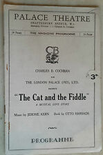1932 The Palace Theatre.:RUDOLF RUFFAX - MARTHE PREVAL in THE CAT AND THE FIDDLE
