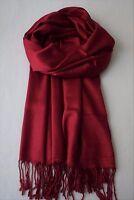 Viskose Schal für Männer - dunkles Karmin Rot - weiche, glatte Qualität