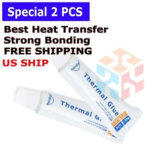 2 PCS 10g -Thermal Conductive Silicone Glue Adhesive - LED GPU Heatsink Mosfets