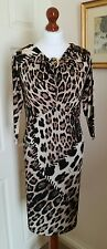Authentic Roberto Cavalli Leopard Print Dress FR38 UK10 Made in Italy
