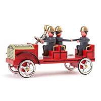 Feuerwehr Mannschaftswagen NEU Erzgebirge Volkskunst Miniatur Pferd Wache