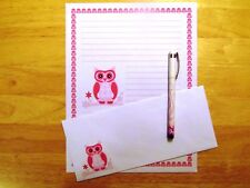 Owl On A Limb Stationery Writing Set With Envelopes - Lined Stationary