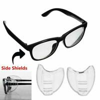 2 x Clear Side Shields Universal Fit Flexible For Eye Glasses Safety Glasses Hot