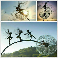 Fairies & Dandelions Dance Together Home Garden Stakes Decor Yard Lawn Ornament