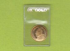 Mini monete in oro 8k (8carati) Bustina certificata Papa GIOVANNI XXIII gold 8k