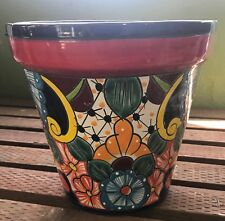 Talavera Planter (VASO #20) H-8 W-9 Authentic Mexican Pottery Hand Painted