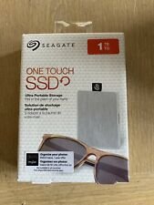 NEW - Seagate One Touch SSD 1TB - White (STJE1000402) Portable USB Hard Drive