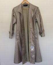 "pre-loved ""Antman"" designer womens trench lightweight beige coat jacket size 8"
