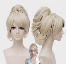 Final Fantasy 15 Lunafreya Nox Fleuret Cosplay Toupee Light Gold Long Hair Wig