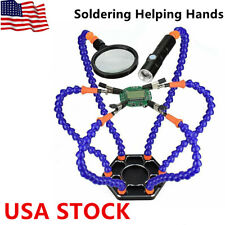 Helping Hands Third Hand Soldering Tool 6 Flexible Arms Six Arm Magnifier Tool