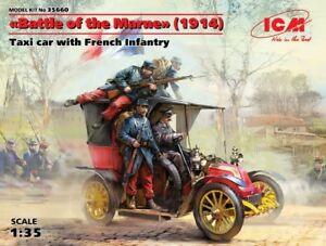 ICM Models 1/35 Taxi Car w/4 French Infantry Battle of the Marne 1914 ICM35660