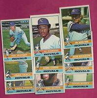 10 X 1976 TOPPS KANSAS CITY ROYALS  CARD (INV# 8957)