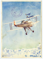 Switzerland Stamps 1946 Registered and Flown Post Card