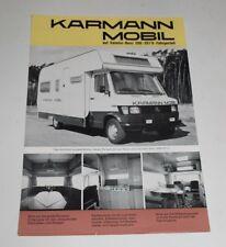 Karmann Mobil Daimler Benz 208 207 D Katalog Programm Prospekt brochure Werbung