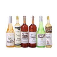Ensemble de 6pcs bouteilles colorees de vin maison de poupee Miniatures 01 V1S9