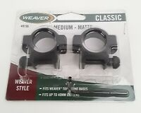 "Weaver 49196 Hunting Scope Rings 1"" Medium Matte 2 Rings"