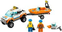 Lego City Set 7732 COASTGUARD 4X4 & DIVING BOAT With Parts List 100% Complete