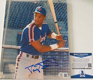 Darryl Strawberry Signed New York Mets 8x10 Photo Beckett BAS COA Autograph