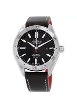 Alpina Alpiner 4 Black Dial Leather Strap Men's Watch AL-525BS5AQ6