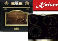 Herdset Autark Kaiser Einbau Backofen EH 6355Em + Glaskeramik Kochfeld 60cm WOW