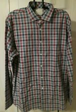 BILLY REID CHECK COTTON DRESS / CASUAL SHIRT XXL Men`s