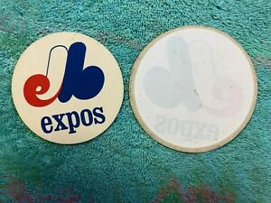 LOT OF 2: c. 1969 MONTREAL EXPOS VINTAGE DECALS STICKERS