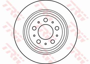 TRW Brake Rotor Pair Rear DF4066S fits Volvo S80 2.0 T (TS,XY), 2.5 T (TS,XY)...