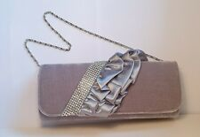 Silver Grey clutch bag / hand bag ideal for proms, weddings, parties