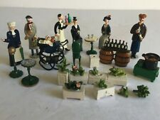 15+pc Group Lot MINIATURE Metal People Figurines J Carlton by Gault Paris