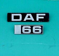 DAF 66 BADGE, TWO BADGES
