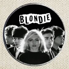 Blondie Patch Picture Embroidered Border Rock Pop Band Debbie Harry Chris Stein