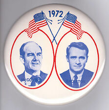 "1 3/4"" 1972 GEORGE MCGOVERN THOMAS EAGLETON PRESIDENTIAL CAMPAIGN PIN BUTTON"
