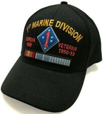 1ST Marine Div.Korea Vetran baseball cap,Beautiful Embroidery, Gift Idea    b