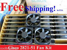 Original Cisco 2821 Router Replacement Fan Kit  (3 New Fans) ACS-2821-51-FANS=