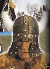 Casque de Barbare en latex souple deguisement adulte avec cornes