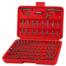 100 PC HEX SHANK TAMPER PROOF RESISTANT SECURITY DRIVER SCREWDRIVER BIT SET KIT