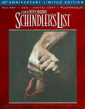 Schindlers List (Blu-ray/DVD, 2013, 3-Disc Set) New free shipping