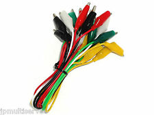 10 Wire Alligator Test Lead Set 5 Pairs of Colors
