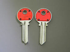 2 Yale Y1 Red Head Key Blanks- Made by Hillman