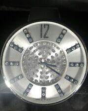 Womans Rhinestone Wristwatch w/Silver Band